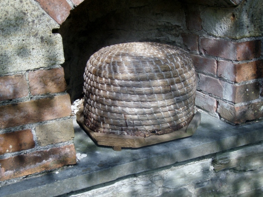 """For centuries, beekeepers have used """"skeps,"""" carefully designed domed baskets, to house their hives. Bees need a clean, dry place to make a home"""