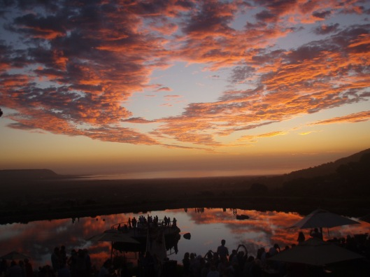 Sunset at Cape Point Vineyards