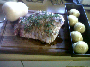 Marinated Lamb and Hassleback potatoes