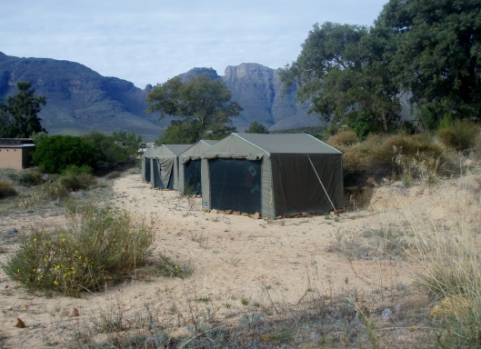 Fully equipped tents