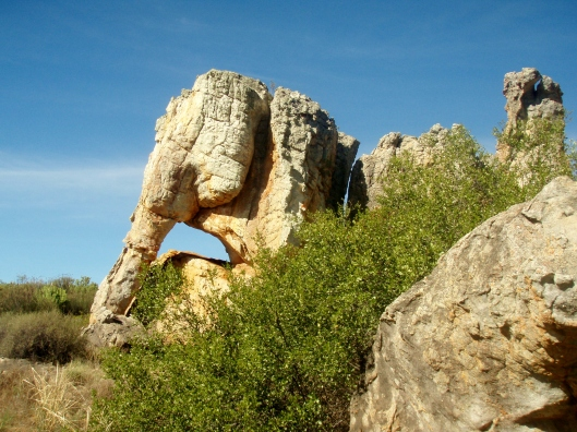 Elephant Rock overlooking the Olifants River Valley. Elephants used to roam here.