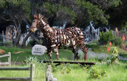 This Horse has been created entirely of scrap metal