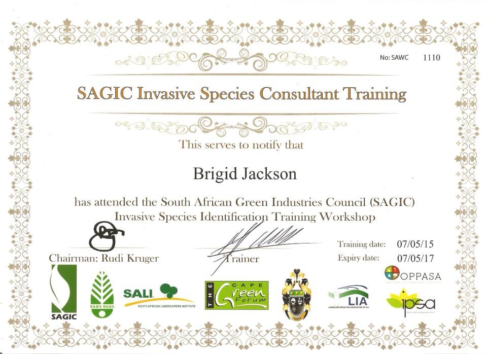 SAGIC CERTIFICATE 001